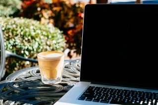 coffee and computer outside_flikr_Jared Scheel